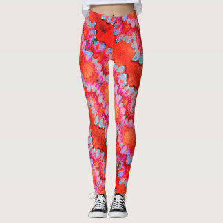 Abstract Marble Patterned Leggings