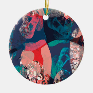 Abstract Marbled Ceramic Ornament