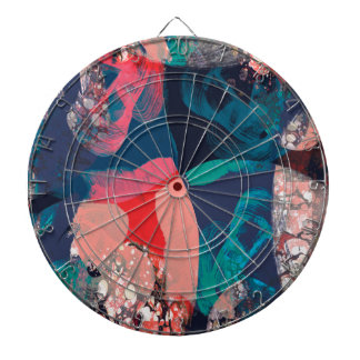 Abstract Marbled Dartboard