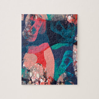 Abstract Marbled Jigsaw Puzzle