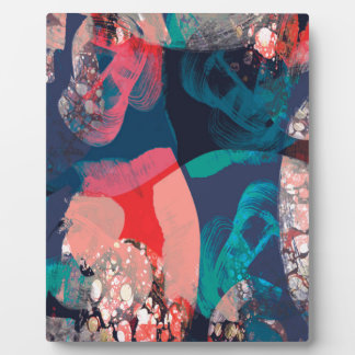 Abstract Marbled Plaque