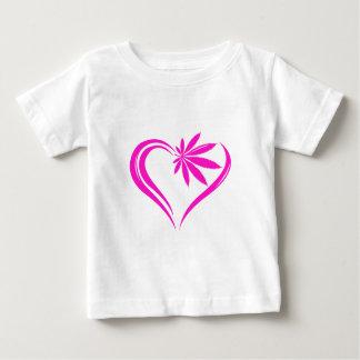 Abstract marijuana heart baby T-Shirt