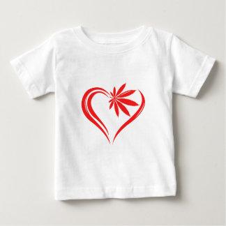 abstract marijuana heart red baby T-Shirt