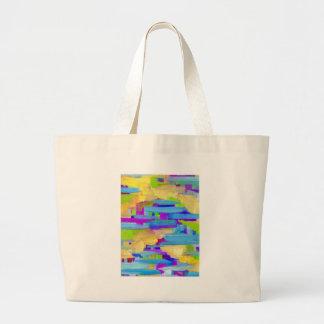 Abstract Marsh Large Tote Bag