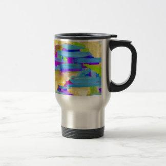 Abstract Marsh Travel Mug