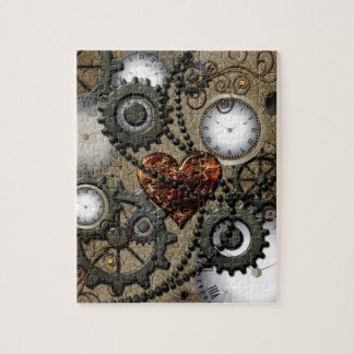 Abstract mechanical design jigsaw puzzle