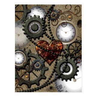 Abstract mechanical design postcard