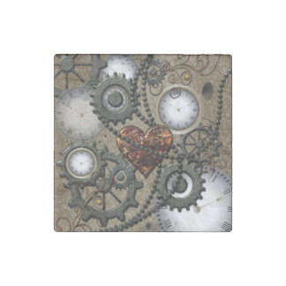 Abstract mechanical design stone magnets