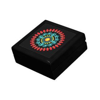 Abstract mechanical object gift box