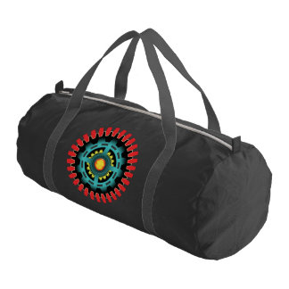 Abstract mechanical object gym bag