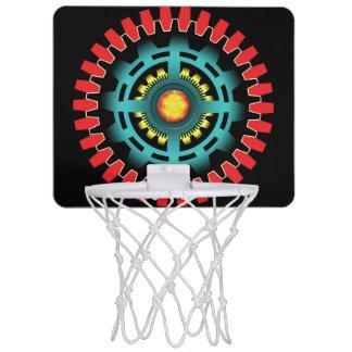 Abstract mechanical object mini basketball hoop