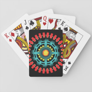 Abstract mechanical object playing cards