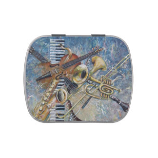 Abstract Melody candy tin