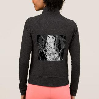 Abstract mermaid black & white jacket