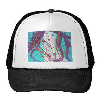 Abstract mermaid color trucker hat