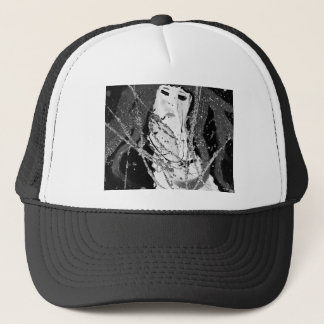Abstract mermaid trucker hat