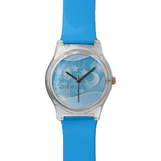 Abstract Merry Christmas Wristwatch