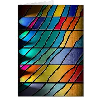 Abstract Metal Sheet rainbow Rusty Antique Junk St Card