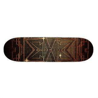 Abstract metal structure skateboards
