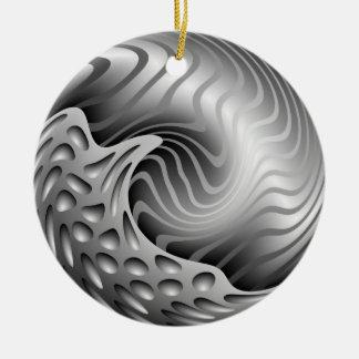 Abstract Metal Swirl Christmas Ornament
