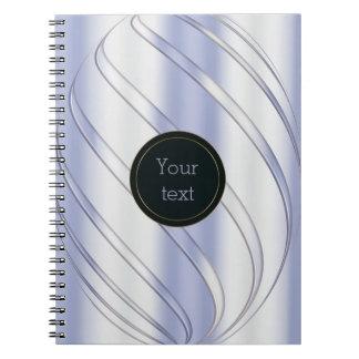 abstract metallic dynamic texture notebooks