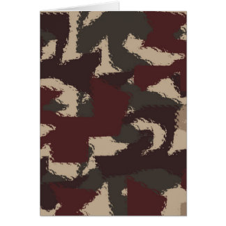 Abstract Military Camouflage Pattern Greeting Card