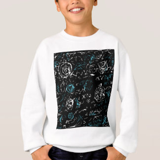 Abstract mind - blue sweatshirt