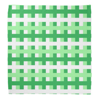 Abstract Mint Green, Green and White Bandana