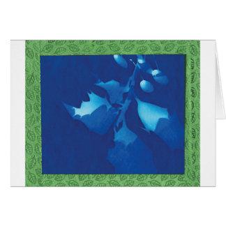 Abstract Mistletoe Holiday Blank Card