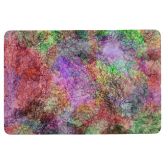 Abstract Mix of Colors Faint Swirled Lines Floor Mat