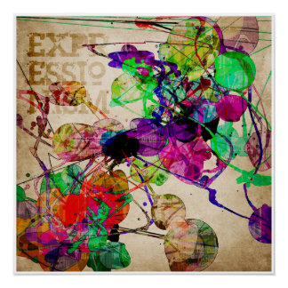 Abstract Mixed Media Perfect Poster