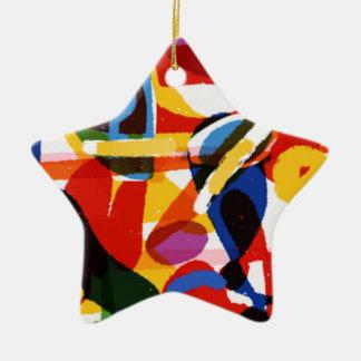 Abstract Mod World Ceramic Star Ornament