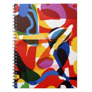 Abstract Mod World Spiral Notebook