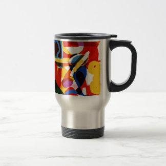 Abstract Mod World Travel Mug