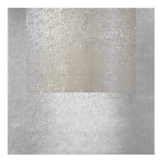 Abstract Modern Art Geometric Binary Cyber Poster