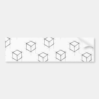 Abstract modern blueprint style cubic boxes bumper sticker