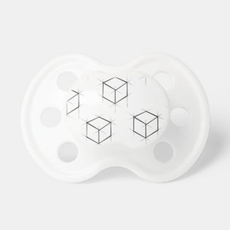 Abstract modern blueprint style cubic boxes pacifier