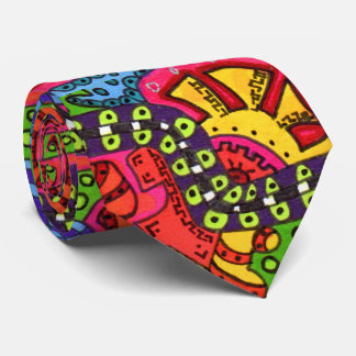 Abstract, Modern, Boho, Colorful, Artistic Tie