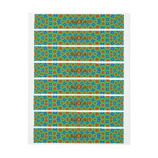 Abstract modern circle pattern wraparound address label