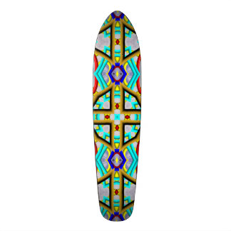 Abstract modern colorful pattern skate board deck