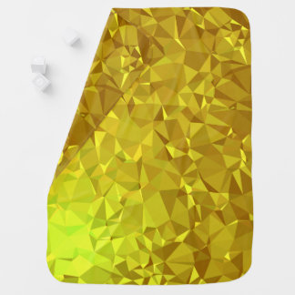 Abstract & Modern Geo Designs - Golden Scales Baby Blanket