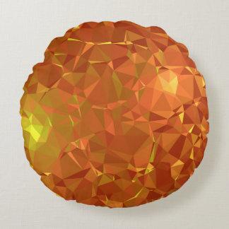 Abstract & Modern Geo Designs - Mandarin Gem Round Pillow