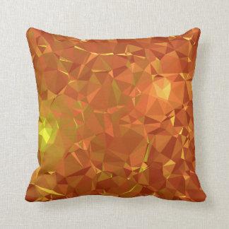 Abstract & Modern Geo Designs - Mandarin Gem Throw Pillow