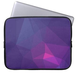 Abstract &  Modern Geo Designs - Mulberry Nebula Laptop Sleeve