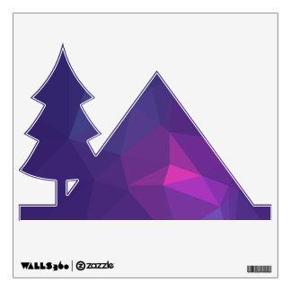 Abstract &  Modern Geo Designs - Mulberry Nebula Wall Sticker