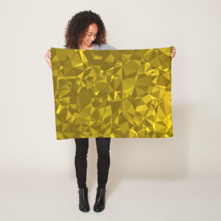 Abstract & Modern Geometric Designs - Castle Vault Fleece Blanket