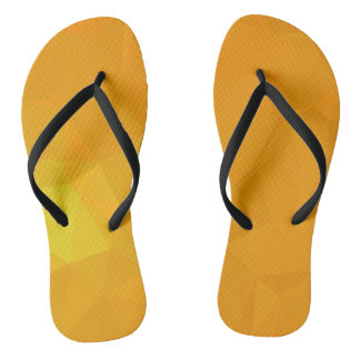 Abstract & Modern Geometric Designs - Citrus Calm Flip Flops