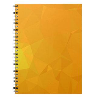 Abstract & Modern Geometric Designs - Citrus Calm Notebooks