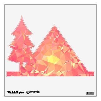 Abstract & Modern Geometric Designs - Comet Trail Wall Sticker