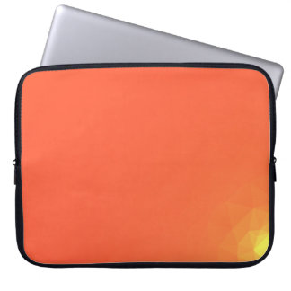 Abstract & Modern Geometric Designs - Fiery Center Laptop Sleeve